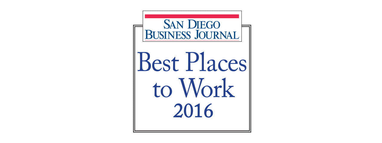 San Diego Business Journal Best Places to Work 2016