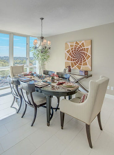 Dining room at Vi at La Jolla Village