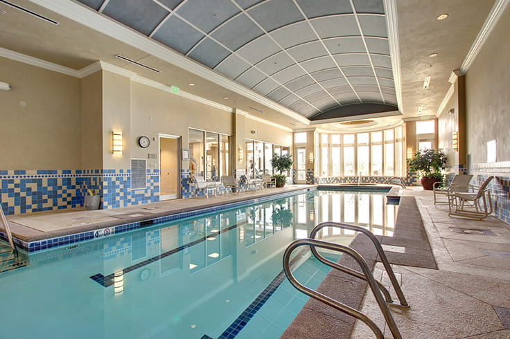 Vi Living at Aventura - Our salt-filtered swimming pool