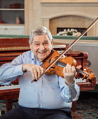 Science & Art: Vi at Aventura Resident Dr. Dunn Creates the Right Tone in His Handmade Violins